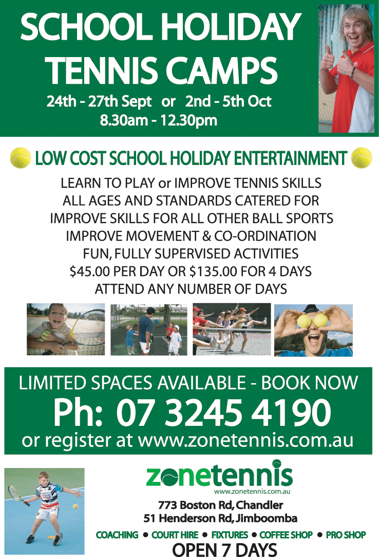 Zone Tennis School Holiday Camps